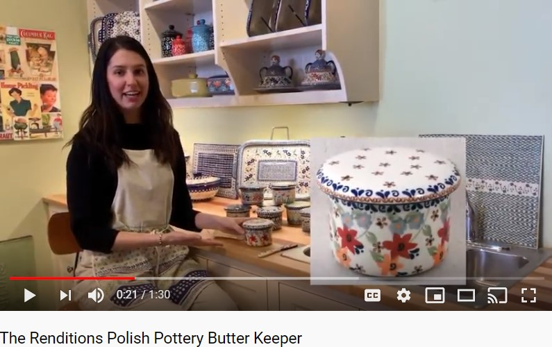 How to Use Your Renditions Polish Pottery Butter Keeper